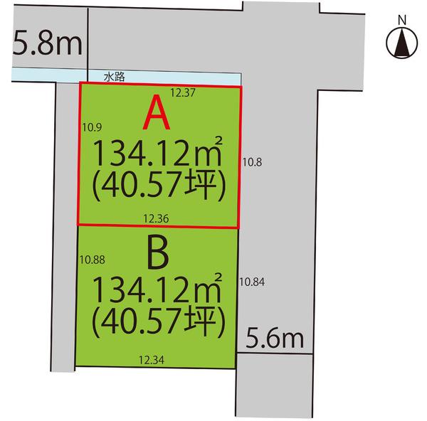 売地  / 山形市富の中3丁目 A区画