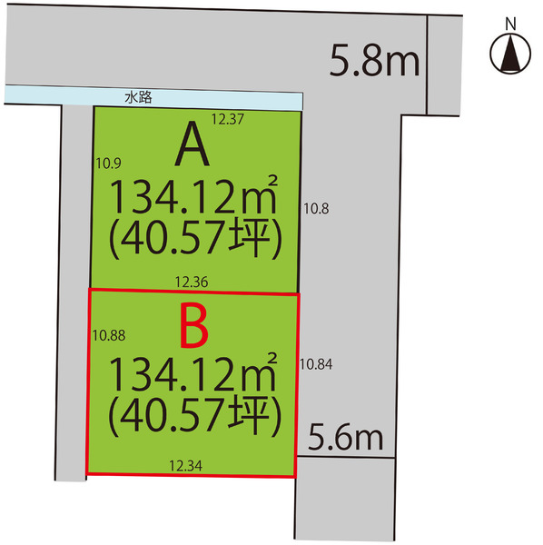 売地  / 山形市富の中3丁目 B区画