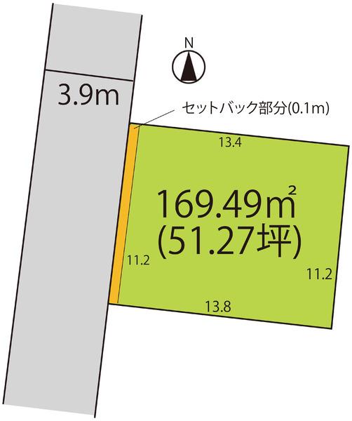売地  / 山形市青田4丁目