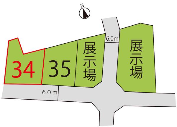 売地  / 東根市大字蟹沢 区画34