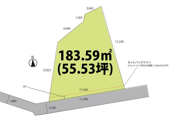 売地  / 山形市円応寺町